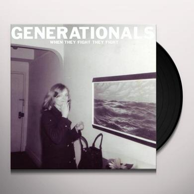 Generationals WHEN THEY FIGHT Vinyl Record