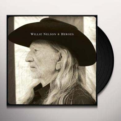Willie Nelson HEROES Vinyl Record