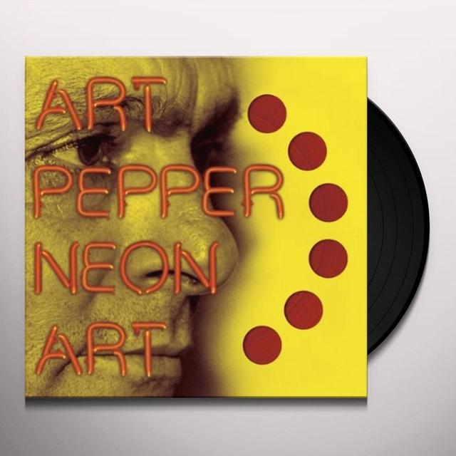 Art Pepper NEON ART 2 Vinyl Record