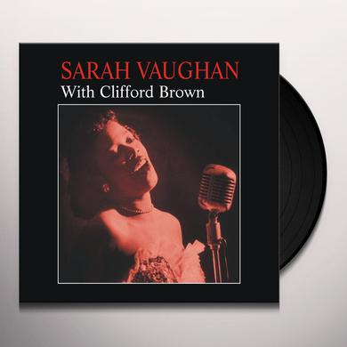 Sarah Vaughan WITH CLIFFORD BROWN (BONUS TRACK) Vinyl Record - 180 Gram Pressing, Remastered
