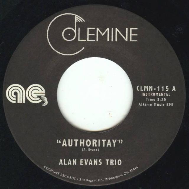 Alan Evans AUTHORITY / DROP HOP Vinyl Record