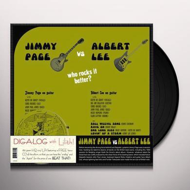 JIMMY PAGE VS ALBERT LEE Vinyl Record - w/CD