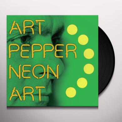 Art Pepper NEON ART 3 Vinyl Record