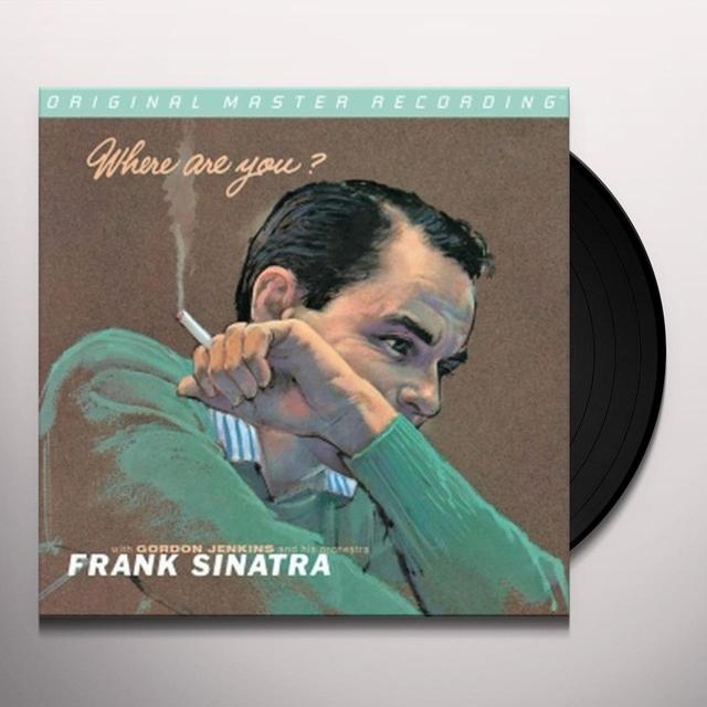 Frank Sinatra WHERE ARE YOU Vinyl Record - Limited Edition, 180 Gram Pressing