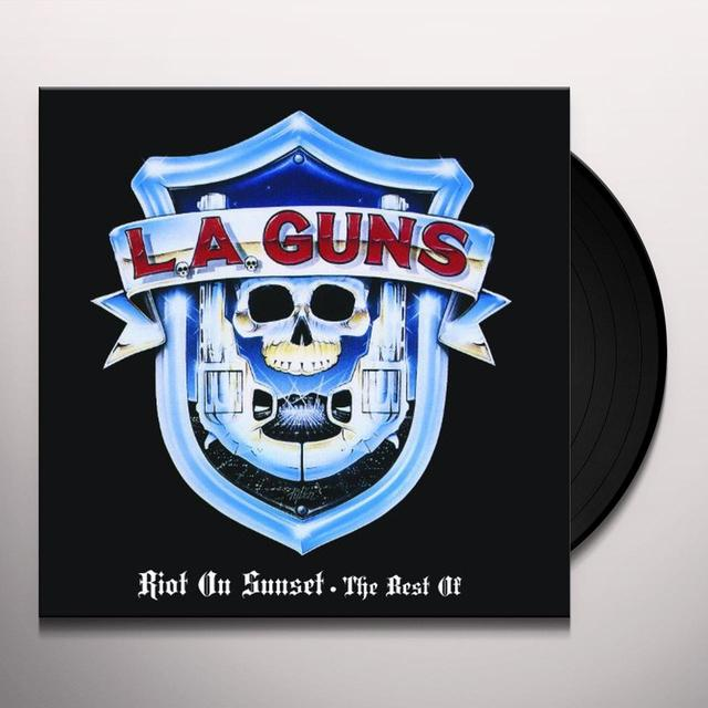LA Guns RIOT ON SUNSET - THE BEST OF Vinyl Record - Limited Edition