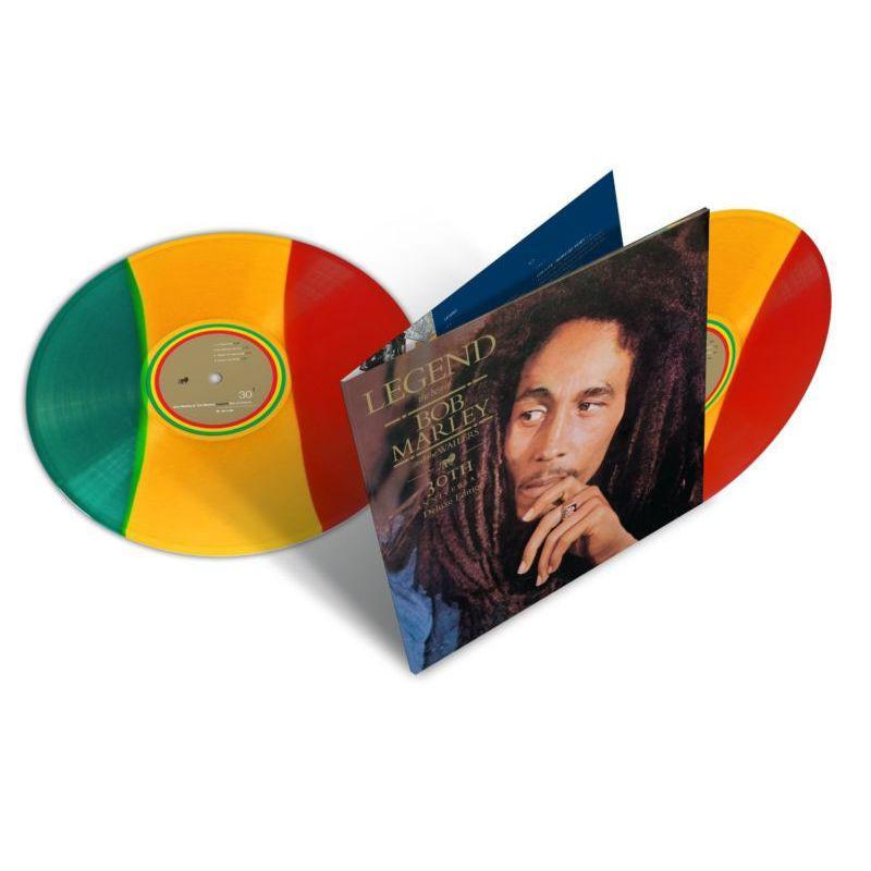 Bob Marley LEGEND: 30TH ANNIVERSARY EDITION - Limited Edition Tri-Color Double Vinyl Record