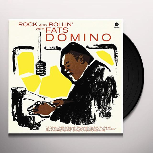 Fats Domino ROCK & ROLLIN WITH (BONUS TRACKS) Vinyl Record
