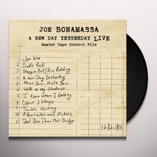 Joe Bonamassa NEW DAY YESTERDAY: LIVE Vinyl Record
