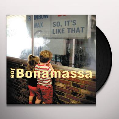 Joe Bonamassa SO IT'S LIKE THAT Vinyl Record
