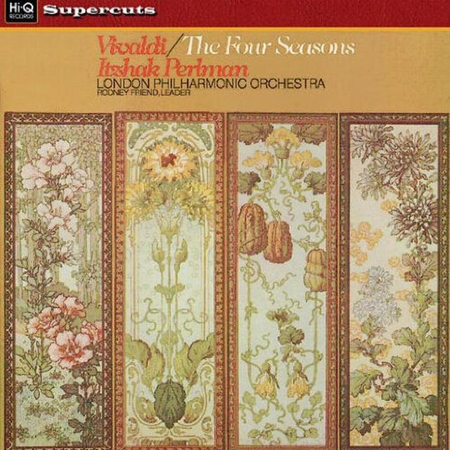 Vivaldi / Perlman / Royal Philharmonic Orchestra FOUR SEASONS Vinyl Record - 180 Gram Pressing