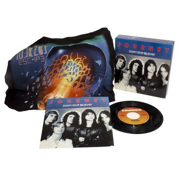 Journey DON'T STOP BELIEVIN / NATURAL THING (WTSH) Vinyl Record - Shirt Included