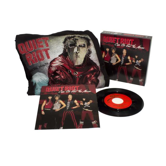 Quiet Riot CUM ON FEEL THE NOIZE / RUN FOR COVER (WTSH) Vinyl Record - Shirt Included