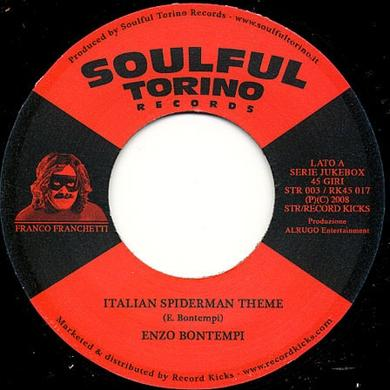 Enzo Bontempi ITALIAN SPIDERMAN THEME Vinyl Record