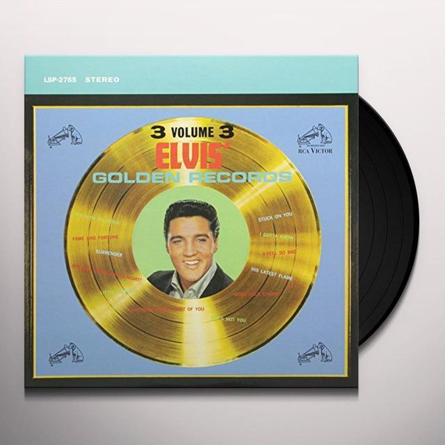 ELVIS GOLDEN RECORDS VOL. 3 Vinyl Record