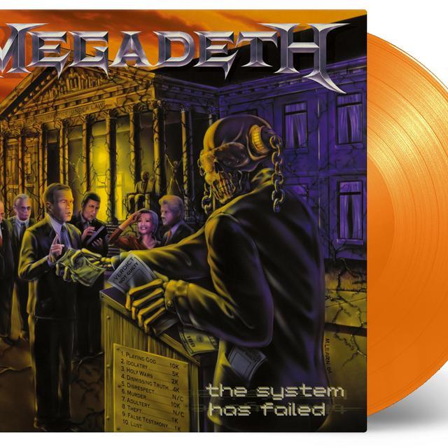 Megadeth SYSTEM HAS FAILED Vinyl Record