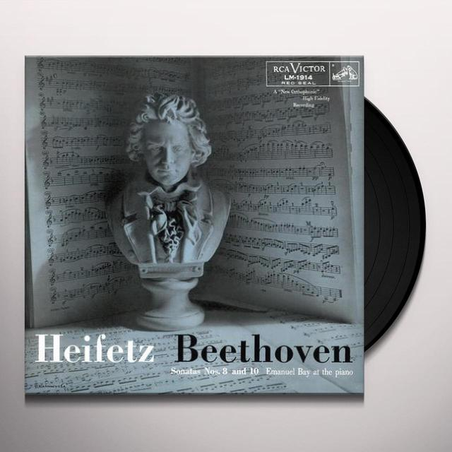 Jascha Heifetz BEETHOVEN SONATAS NOS 8 & 10 Vinyl Record - Limited Edition, 180 Gram Pressing