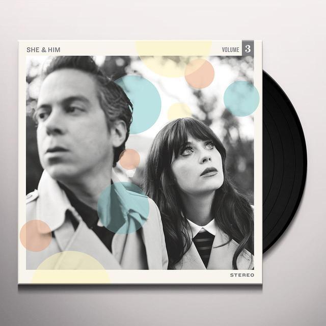 She & Him VOLUME 3 Vinyl Record - 180 Gram Pressing, Digital Download Included