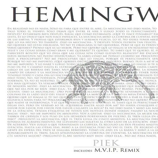 Piek HEMINGWAY Vinyl Record