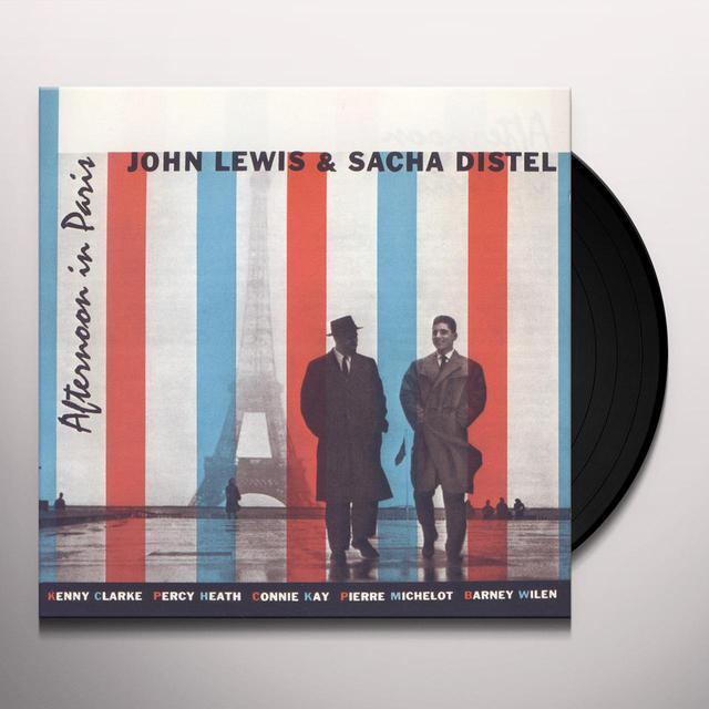 John Lewis / Sacha Distel AFTERNOON IN PARIS (BONUS TRACK) Vinyl Record - 180 Gram Pressing