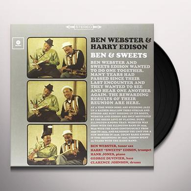 Ben Webster / Harry Edison BEN & SWEET (BONUS TRACK) Vinyl Record - 180 Gram Pressing