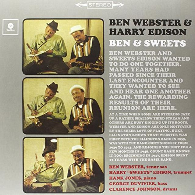 Ben Webster / Harry Edison BEN & SWEET (BONUS TRACK) Vinyl Record - 180 Gram Pressing