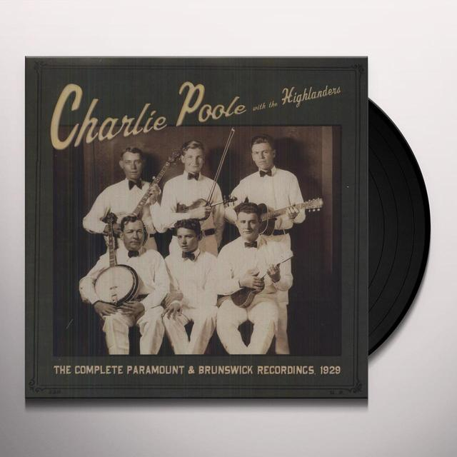 Charlie Poole COMPLETE PARAMOUNT & BRUNSWICK Vinyl Record