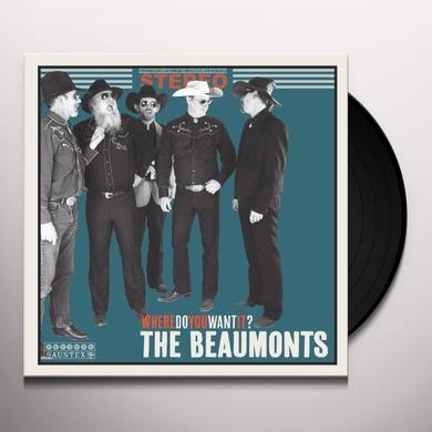 Beaumonts WHERE DO YOU WANT IT Vinyl Record - 10 Inch Single