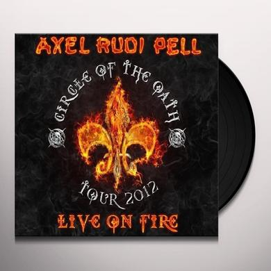 Axelrudi Pell LIVE ON FIRE Vinyl Record