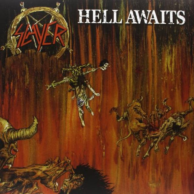 Slayer HELL AWAITS Vinyl Record - Limited Edition, Colored Vinyl