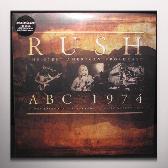Rush ABC 1974 Vinyl Record - Colored Vinyl, Limited Edition