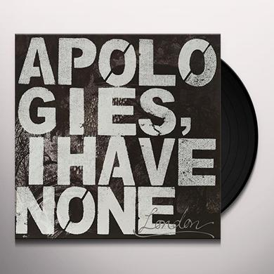 Apologies I Have None LONDON Vinyl Record