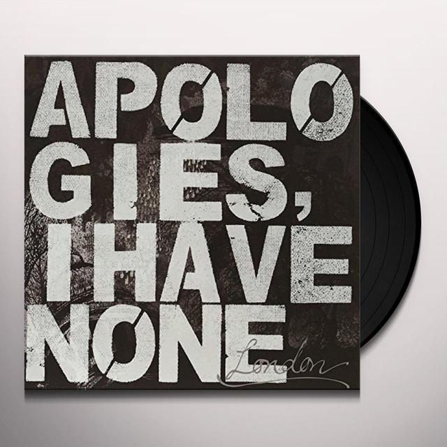Apologies I Have None LONDON Vinyl Record