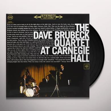 Dave Brubeck AT CARNEGIE HALL Vinyl Record - 180 Gram Pressing