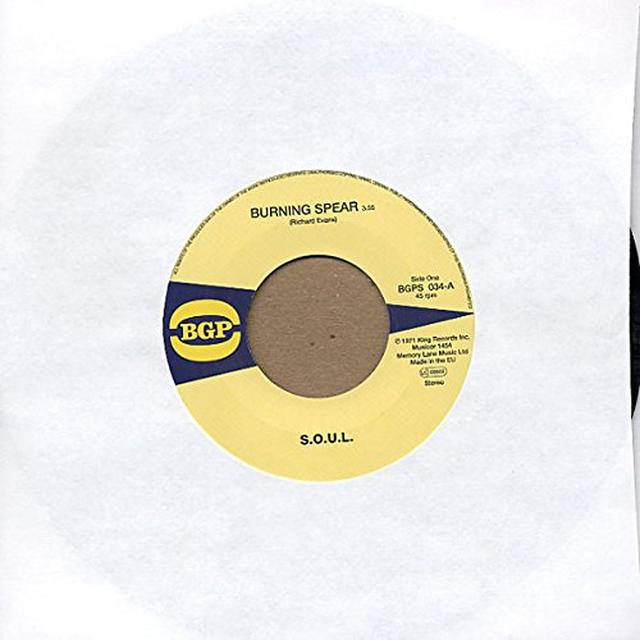S.O.U.L. BURNING SPEAR / DO WHATEVER YOU WANT TO DO Vinyl Record