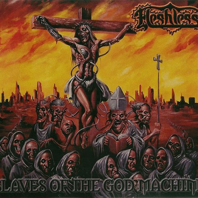 Fleshless SLAVES OF THE GOD MACHINE Vinyl Record