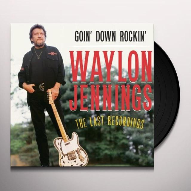 Waylon Jennings GOING DOWN ROCKIN Vinyl Record
