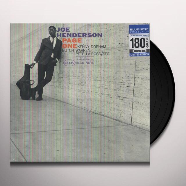 Joe Henderson PAGE ONE Vinyl Record