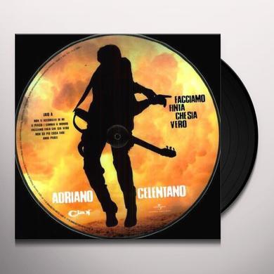 Adriano Celentano FACCIAMO FINTA CHE SIA VERO Vinyl Record - Italy Import