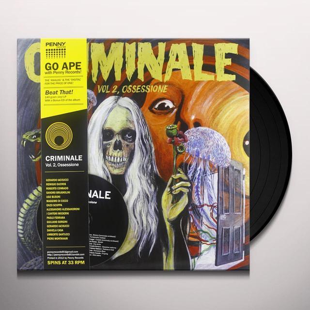 CRIMINALE 2: OSSESSIONE / VARIOUS (BONUS CD) Vinyl Record
