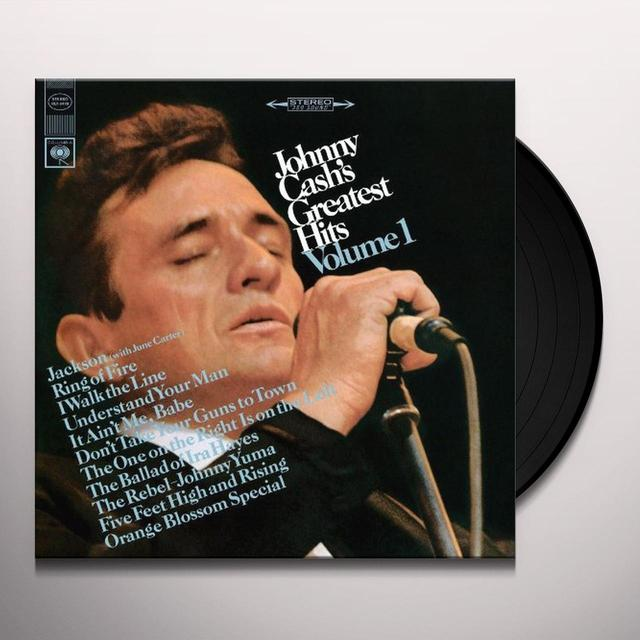 JOHNNY CASH'S GREATEST HITS 1 Vinyl Record - Limited Edition, 180 Gram Pressing