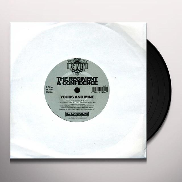 Regiment & Confidence YOURS & MINE / WE GON Vinyl Record
