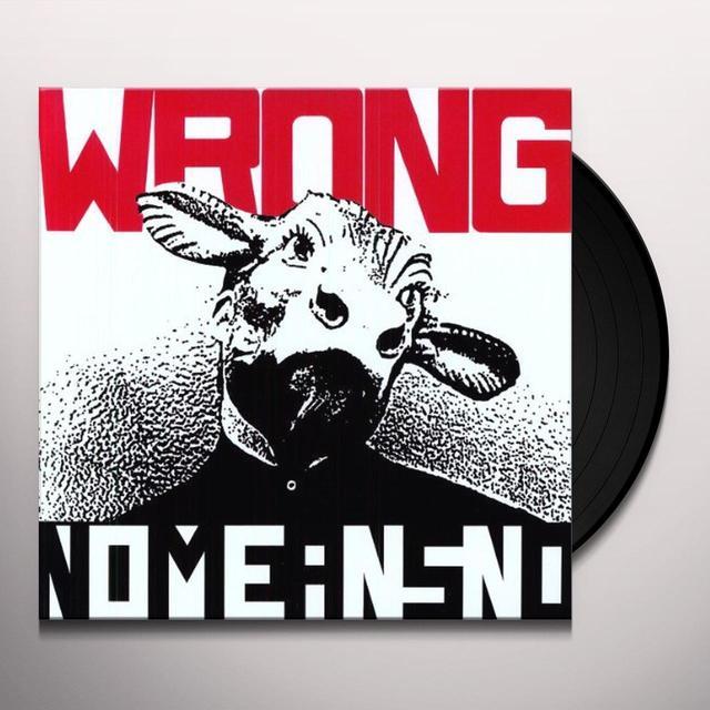Nomeansno WRONG (SPLATTER VINYL) Vinyl Record
