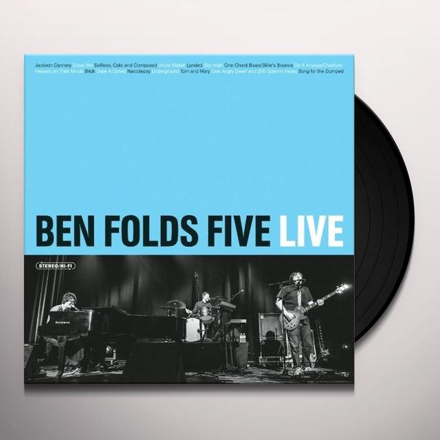 Ben Folds Five LIVE Vinyl Record - Digital Download Included