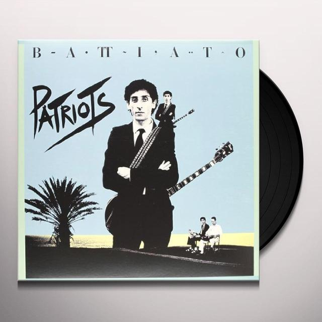 Franco Battiato PATRIOTS Vinyl Record
