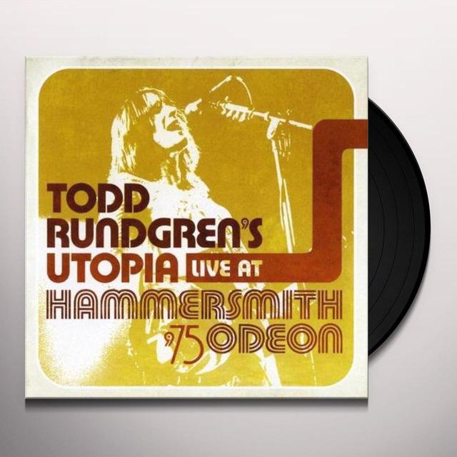 Todd'S Utopia Rundgren LIVE AT THE HAMMERSMITH ODEON 1975 Vinyl Record - 180 Gram Pressing