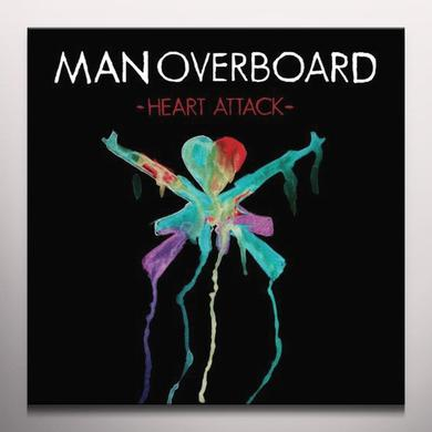 Man Overboard HEART ATTACK (BONUS CD) Vinyl Record - Colored Vinyl