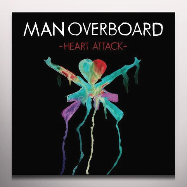 Man Overboard HEART ATTACK (BONUS CD) Vinyl Record - Colored Vinyl