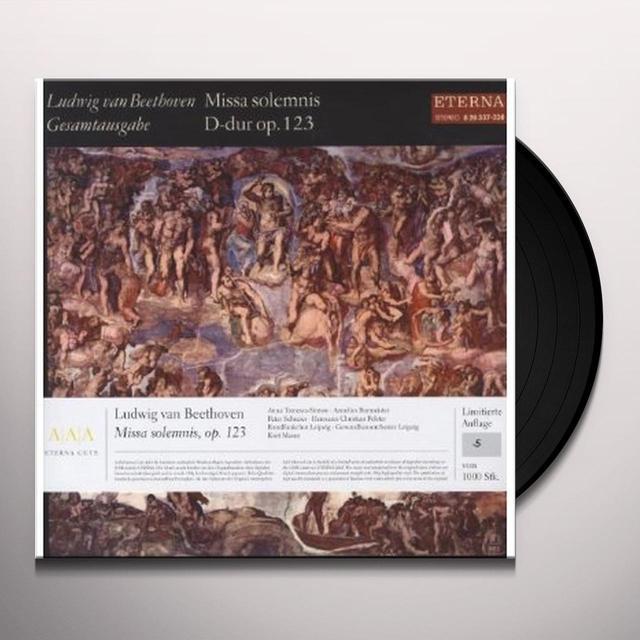 Beethoven / Tomowa-Sintow / Burmeister MISSA SOLEMNIS OP 123 Vinyl Record