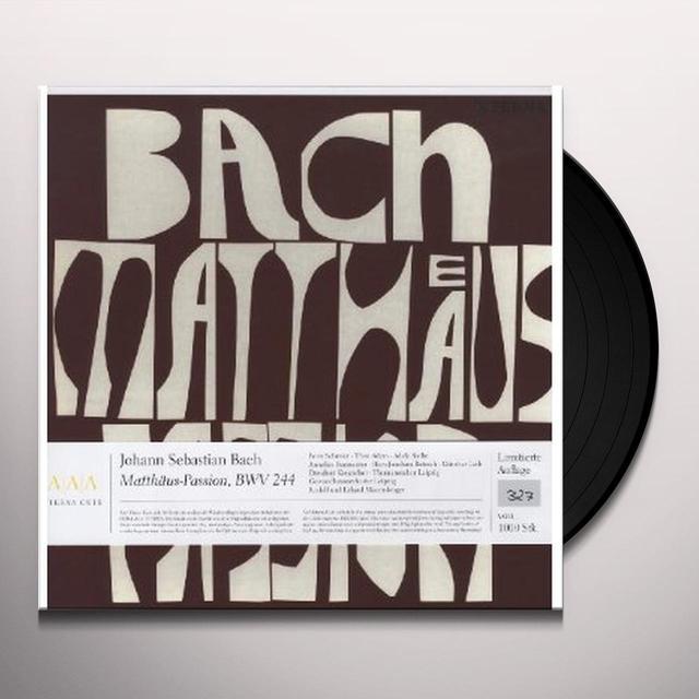 J.S. / Schrier / Dresden Kreuzchor Bach ST MATTHEW PASSION Vinyl Record