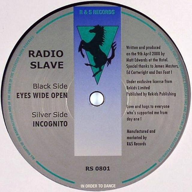 Radio Slave EYES WIDE OPEN / INCOGNITO Vinyl Record